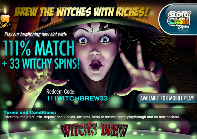 Sloto Cash Casino Witchs Brew Slot Bonus