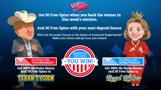 Slots of Vegas Casino Election Bonuses