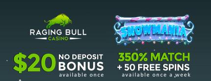 Raging Bull Casino Snowmania Slot Bonuses