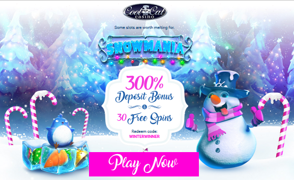 Cool Cat Casino Snowmania Slot Bonuses