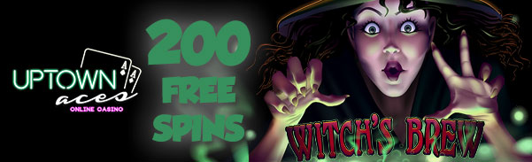 Uptown Aces Casino Witchs Brew Slot Bonus Code