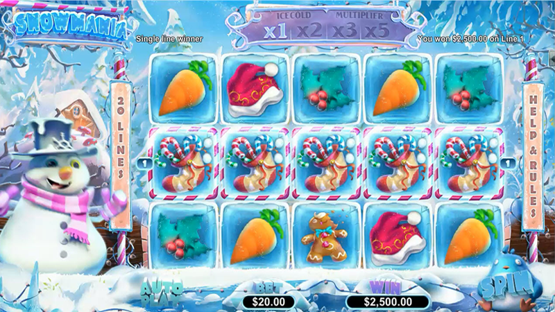 Planet 7 Casino Snowmania Slot Free Spins