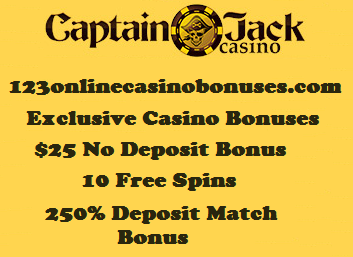 Exclusive 2017 Captain Jack Casino Bonuses
