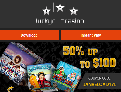 lucky club casino no deposit bonus code 2017