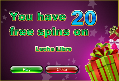 Intertops RED Casino Lucha Libre Slot Free Spins