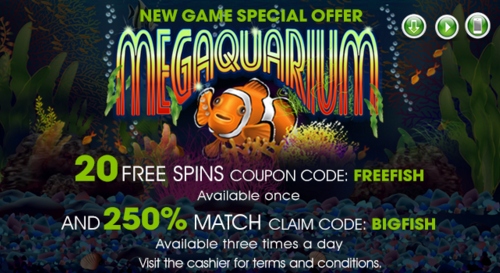 Raging Bull Casino Megaquarium Slot Bonuses