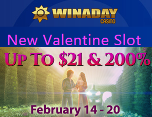 Win A Day Casino Valentine 2017 Bonuses