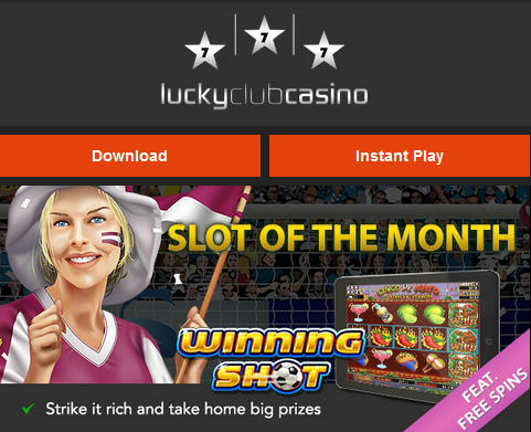 Lucky Club Casino June 2017 Daily Free Spins