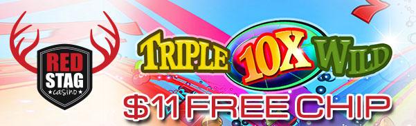 Red Stag Casino 10X Wild Slot Free Spins Bonus Code