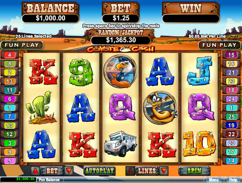 Kudos Casino Coyote Cash Slot Bonus Code