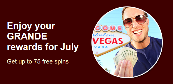 Grande Vegas Casino July 2017 Cash Bandits Slot Bonuses