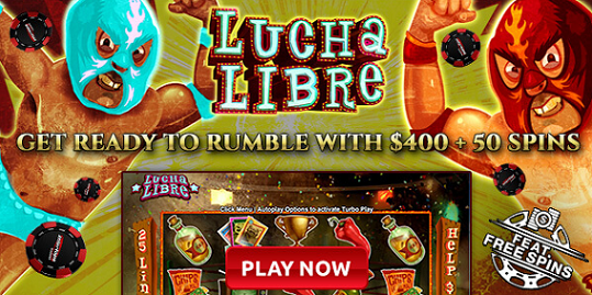 Intertops Red Casino Lucha Libre Slot Bonus