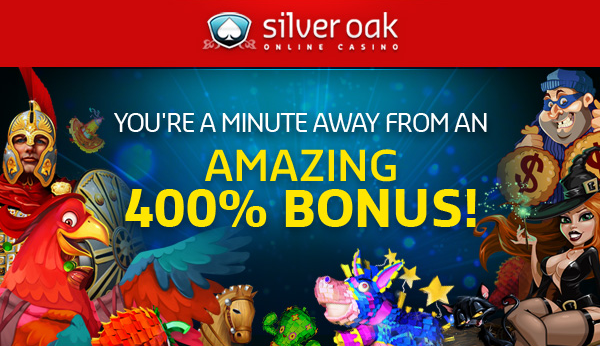 Deposit Match Bonus Plus Free Spins at Silver Oak Casino