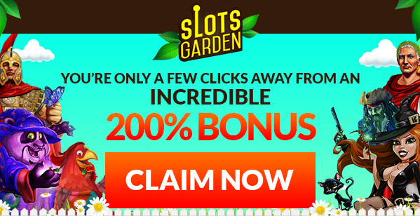 Slots Garden Casino Match Bonus With Free Spins