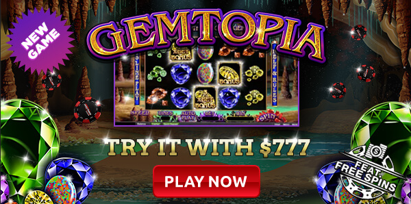 Intertops RTG Casino Gemtopia Slot Bonuses