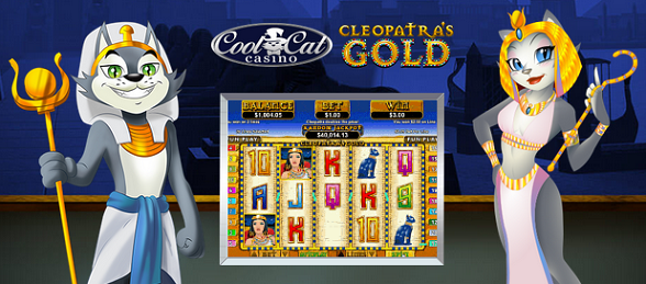 Cool Cat Casino Cleopatra's Gold Slot Bonus