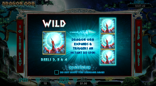Dragon Orb Slot Bonuses at 2 RTG Casinos