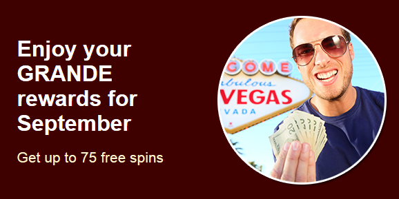 Grande Vegas Casino September 2017 Bonuses