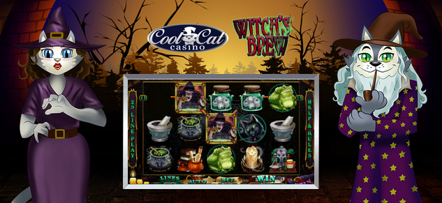 Cool Cat Casino Witchs Brew Slot Bonus