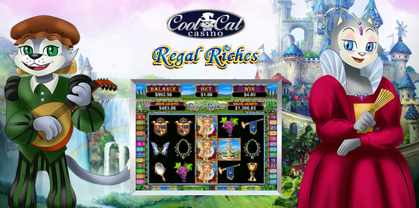 Cool Cat Casino Regal Riches Slot Bonus