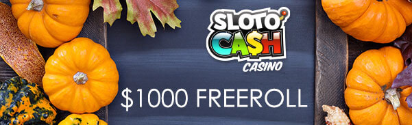 Sloto Cash Casino Thanksgiving Freeroll