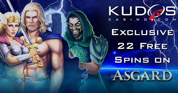 Kudos Casino Asgard Slot Free Spins