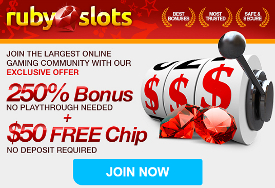 ruby slot casino no deposit bonus code